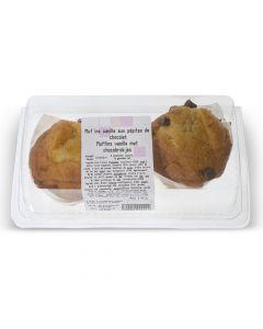 Muffins Vanille aux Pépites de Chocolat, 2 pièces
