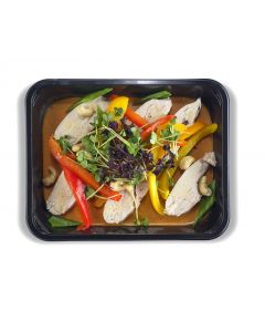 Wok de Poulet au Curry Rouge et Shiso