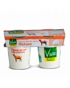 Yoghurt Natuur Bio van Geitenmelk - 2 x 125 g