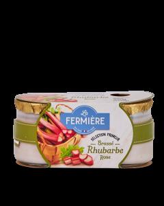 Yaourt Brassé Rhubarbe Rose - 2 x 125 g