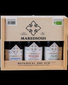 Gin Bio Giftbox Maredsous 3 x 20 cl