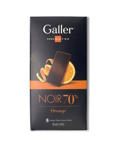 Zwarte Chocolade 70% Sinaasappel - 80 g