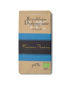 Chocolat Noir Bio 75% - République Dominicaine Trinitario - 100 g