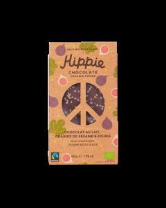 Chocolat au Lait Bio, Graines de Sésame & Figues - 50 g