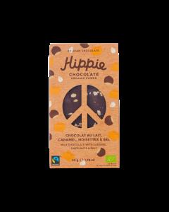 Chocolat au Lait Bio, Caramel, Noisettes & Sel - 50 g