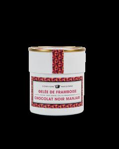 Gelei met Framboos en pure Manjarichocolade - 250 g