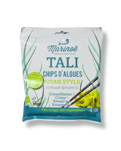 Tali Gedroogde Zeewierchips Asian Style - Wasabi Spiruline - 40 g