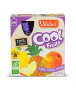 Coolfruit's Bio Pomme Mangue Ananas - 4 x 90 g