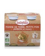 Purée Pommes de Terre, Petits Pois et Jambon - 2 x 200 g
