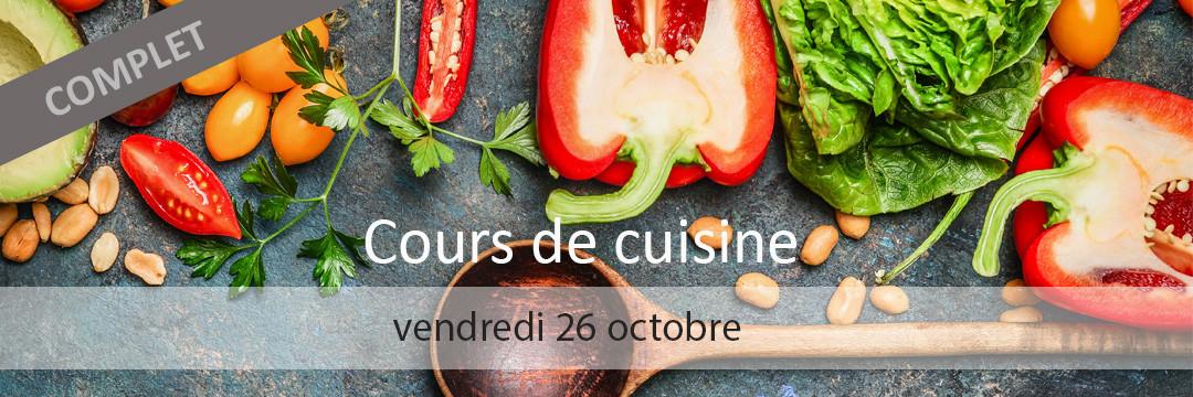 Cours de cuisine 26 octobre 2018