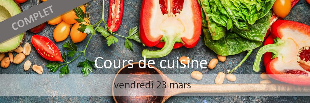Cours de cuisine 23 mars 2018