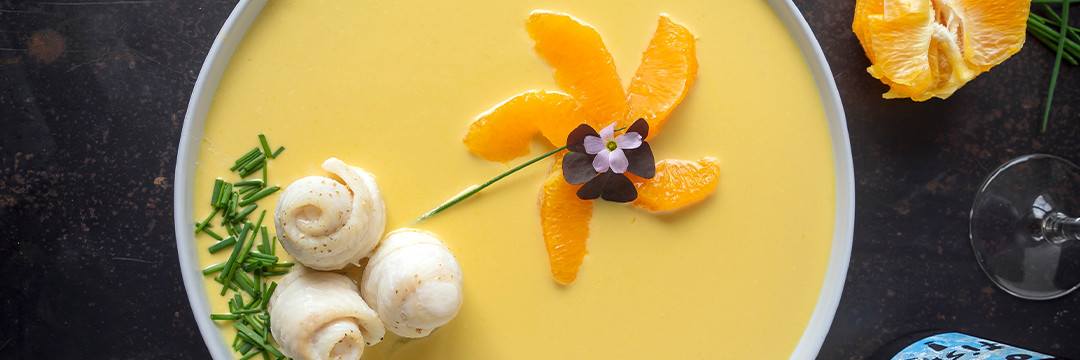 Tongfilets met geitenkaas en sinaasappel