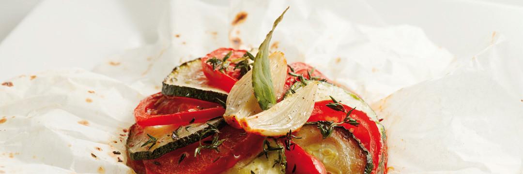 Papillot met Provençaalse groenten