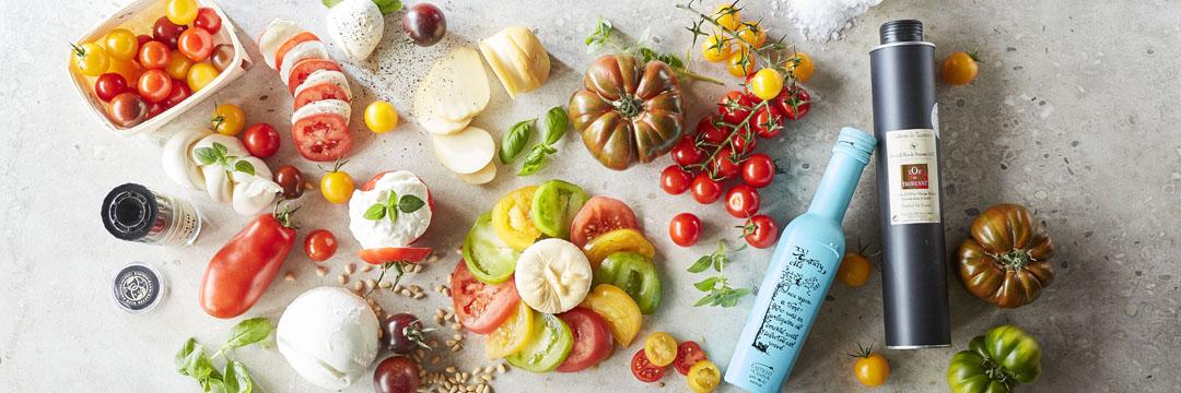 Variëren, met tomaat en mozzarella