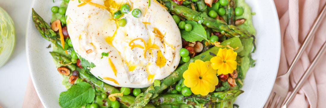 Une assiette de printemps à partager