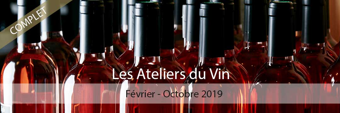 Les Ateliers du Vin - Saison 2019