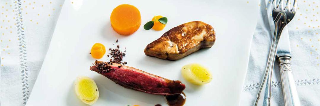 Canard sauvage, butternut et grué de cacao