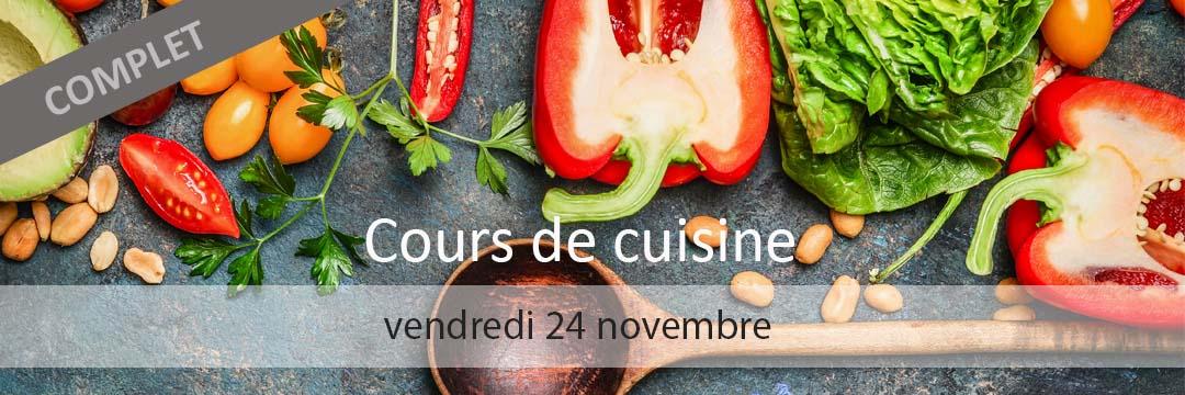 Cours de cuisine 24 novembre 2017