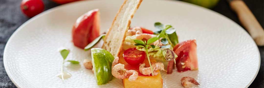 Tomates aux crevettes et ras-el-hanout