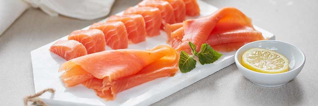 Saumon fumé et cœur de saumon bio