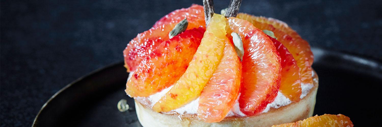 Tartelettes sablées aux oranges sanguines